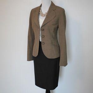 ANN TAYLOR Size 4 Brown Skirt Suit Skirt & Blazer